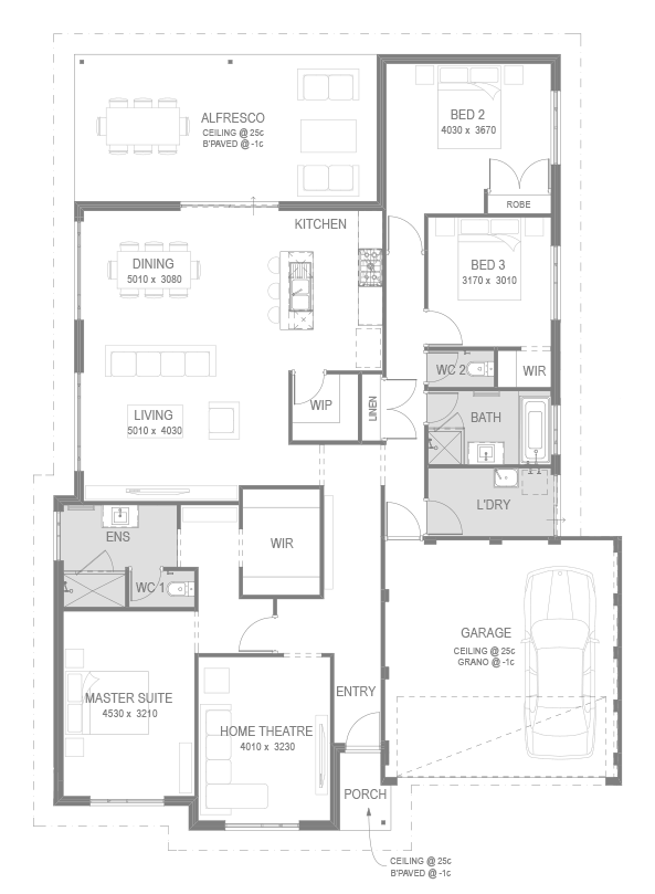 The Dakota Floorplan by GO Homes