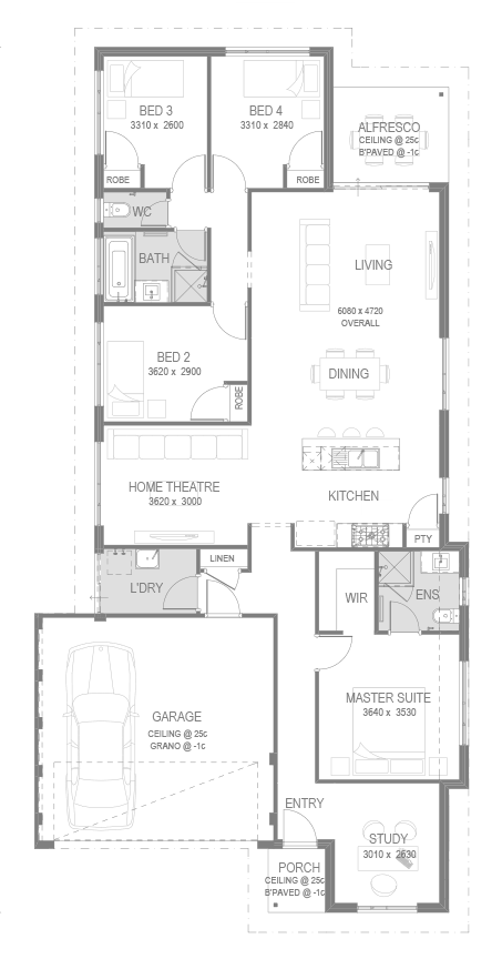 The Honeywood Estate Floorplan by GO Homes