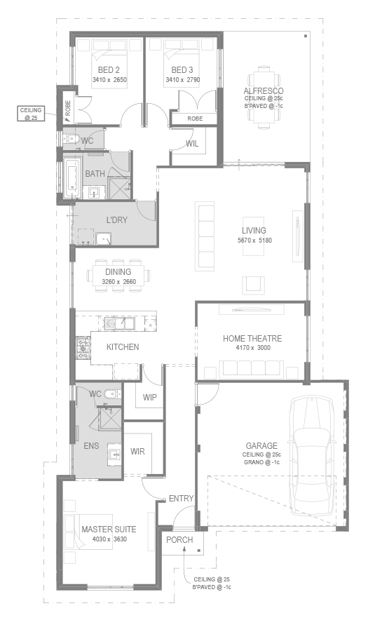 The Marsella Floorplan by GO Homes