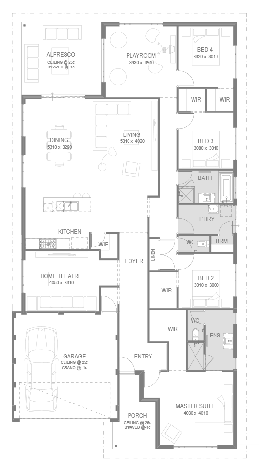 The Mendoza Floorplan by GO Homes