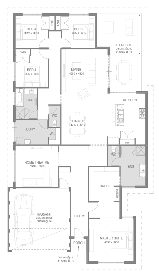 The Rubik Floorplan by GO Homes