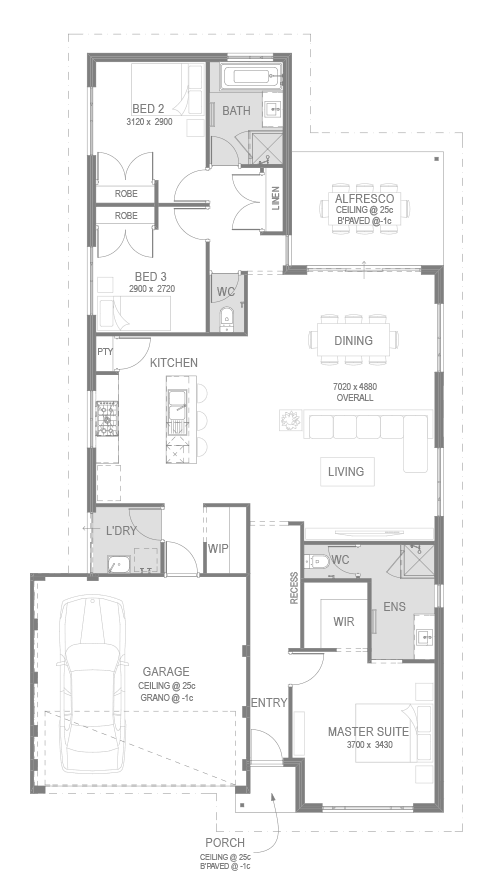 Yanchep Golf Estate House and Land Package Floorplan by GO Homes