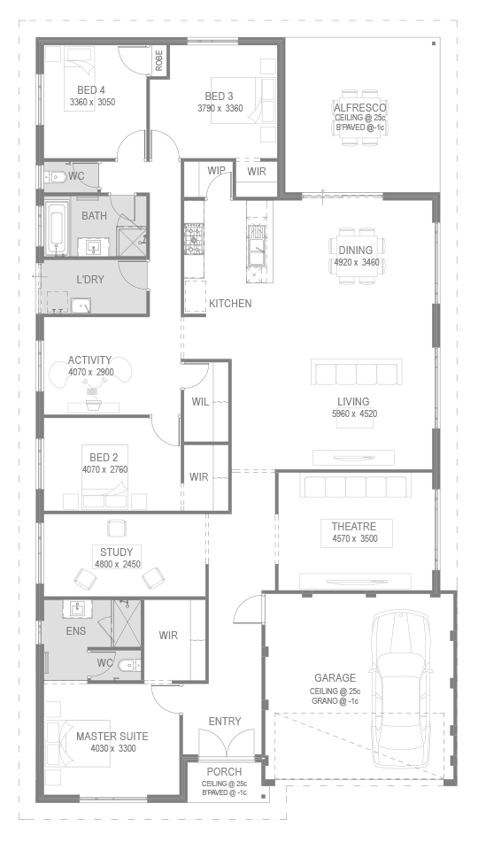 The Tacoma Floorplan by GO Homes