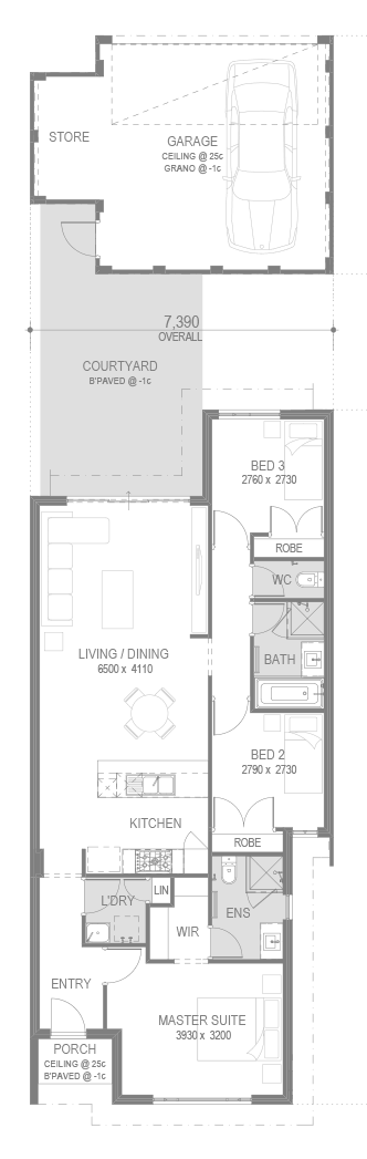 The Aveley Estate Floorplan by GO Homes