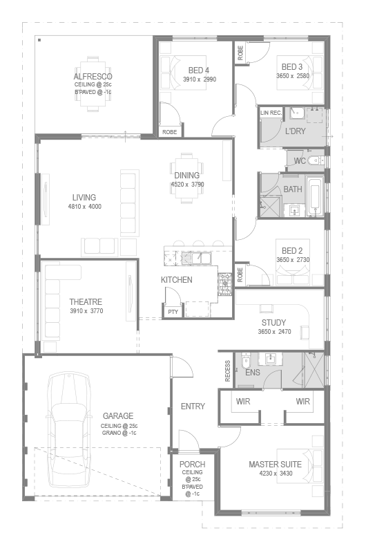 The Viewbank Floorplan by GO Homes