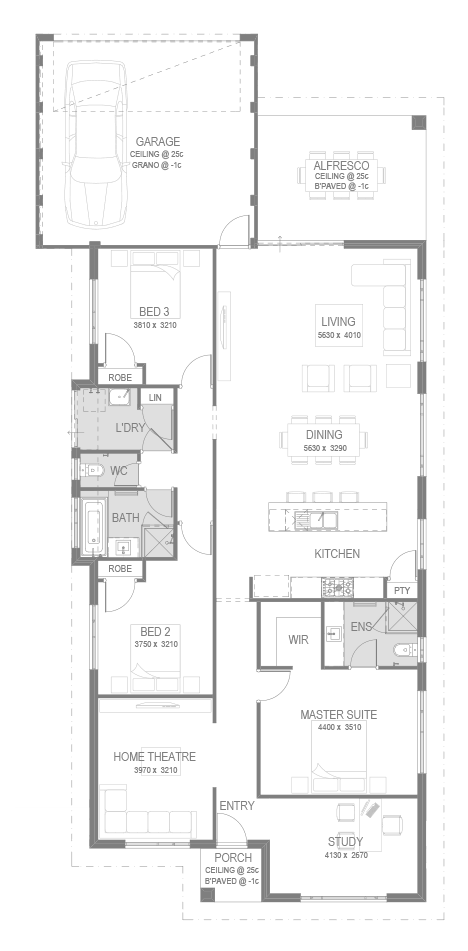 The Wakeley Floorplan by GO Homes