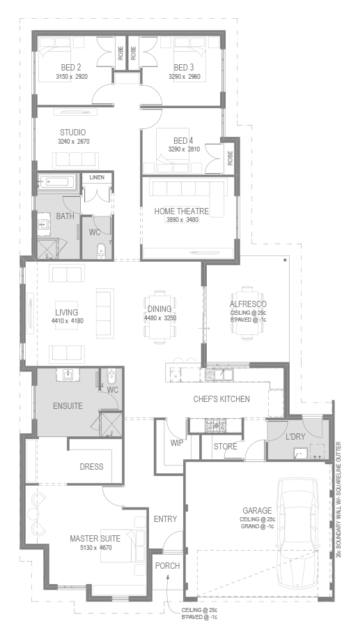 The Eden Beach Estate Floorplan by GO Homes