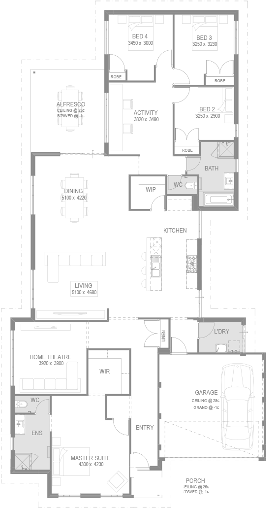 The Nevada Floorplan by GO Homes