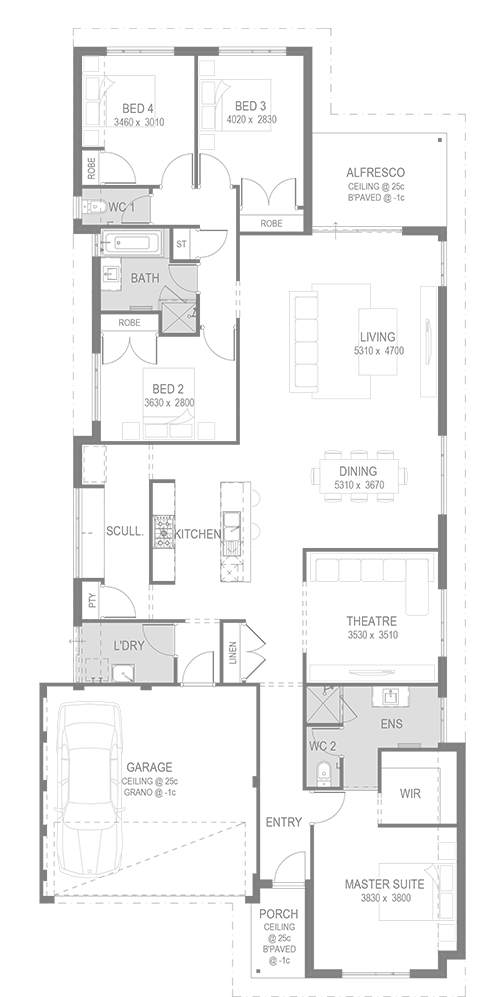 The Clifton Floorplan by GO Homes