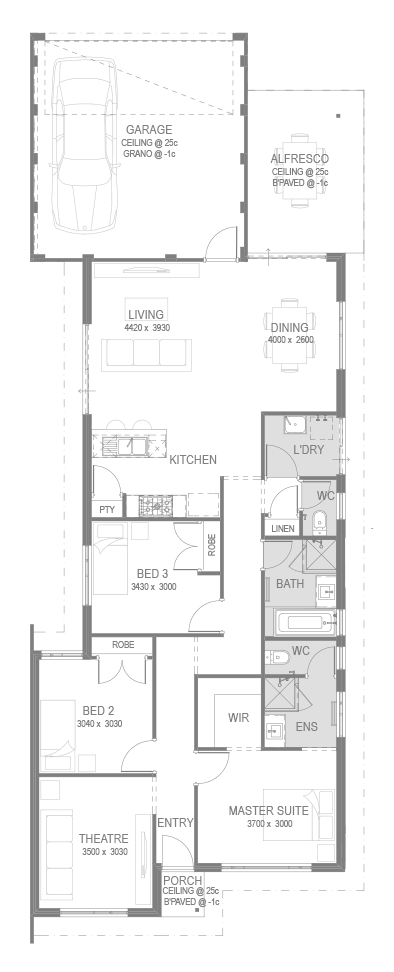 Golden Bay House and Land Package Floorplan by GO Homes