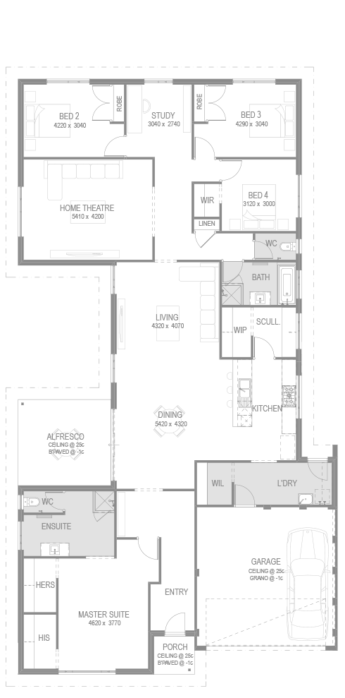 The Venus Bay Floorplan by GO Homes
