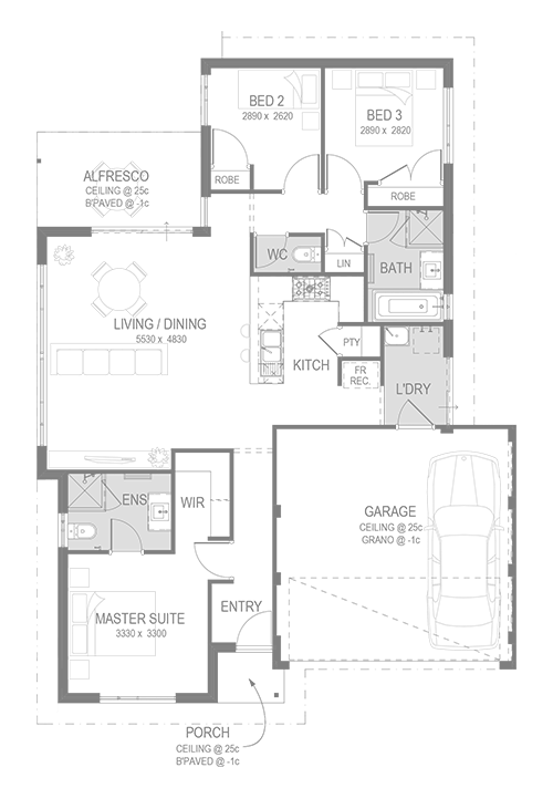 Whiteman Edge Estate Floorplan by GO Homes