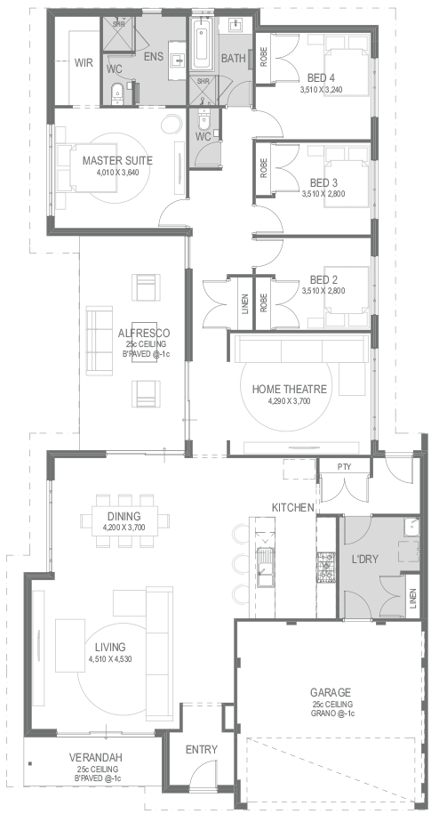 The Makani Floorplan by GO Homes
