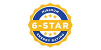 minimum 6 star energy rating