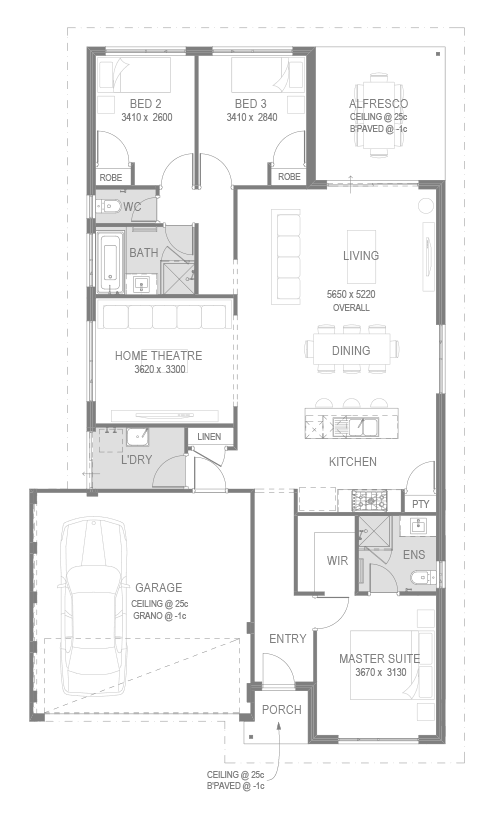 Vertex House and Land Package Floorplan by GO Homes