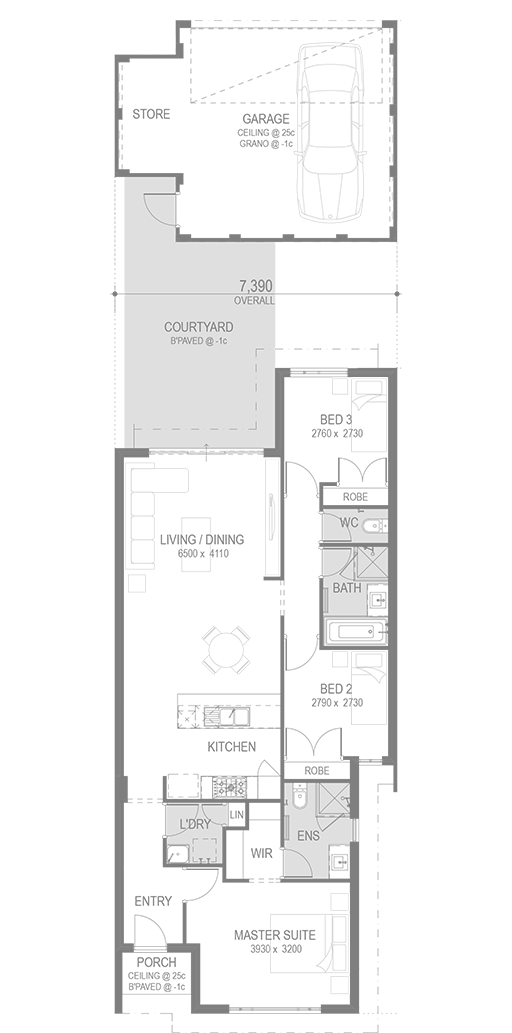 Eden Beach House and Land Packages Floorplan by GO Homes