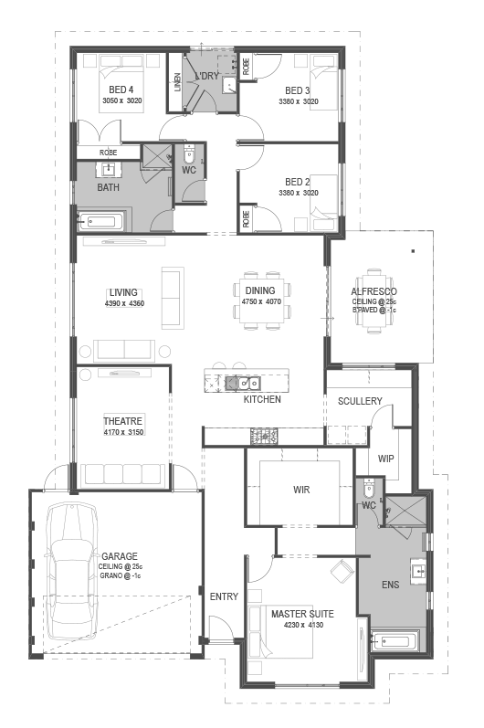 The Treble Floorplan by GO Homes