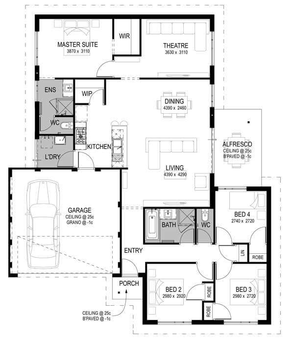 Alkimos Vista Package Floorplan by GO Homes