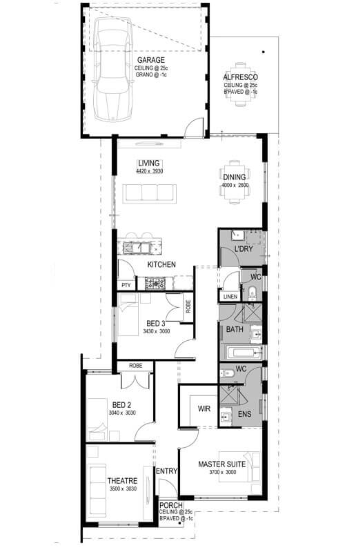 Mason Green Estate Floorplan by GO Homes