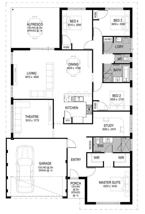 Movida Estate Floorplan by GO Homes