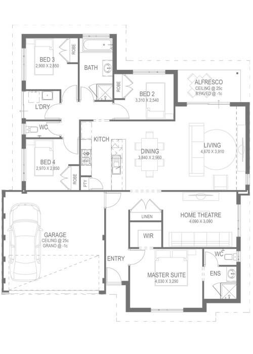 The Vortex Floorplan by GO Homes