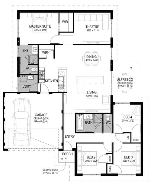 Dunsborough Lakes Estate Floorplan by GO Homes
