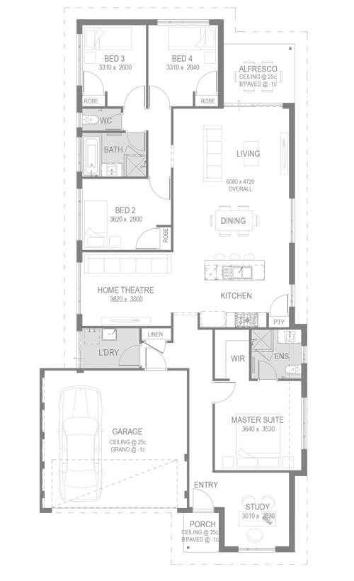 The Fernleigh floorplan