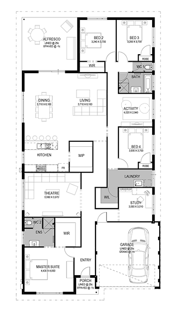 The Amalie Floorplan by GO Homes