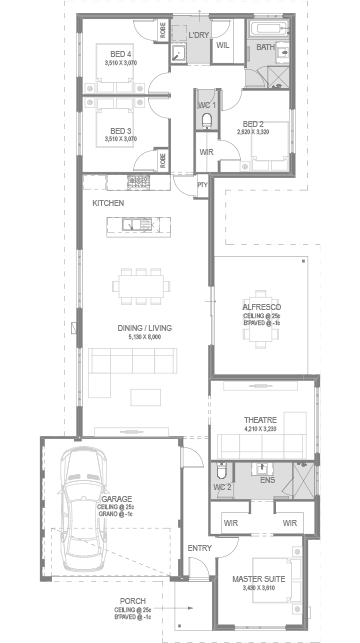 The Alva Floorplan by GO Homes