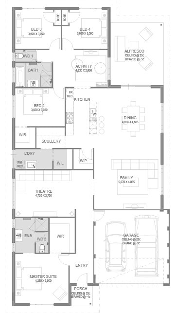 The Araluen Floorplan by GO Homes