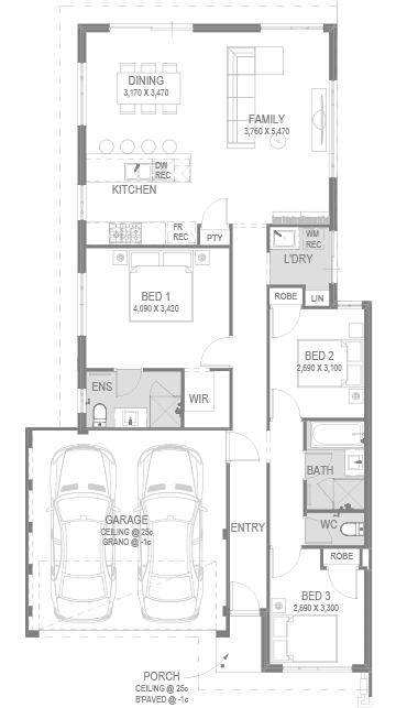 The Indiana Floorplan by GO Homes