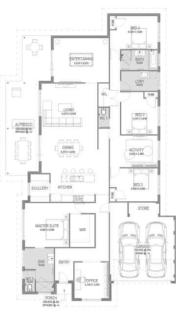 The Oso Floorplan by GO Homes