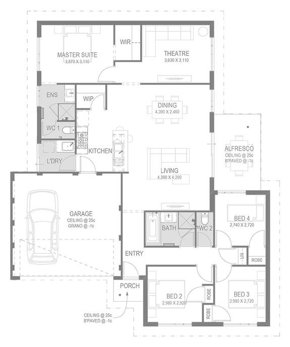 The Bayswater Floorplan by GO Homes