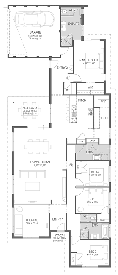 The Mangrove Floorplan by GO Homes