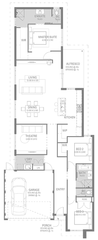 The Cadence Floorplan by GO Homes