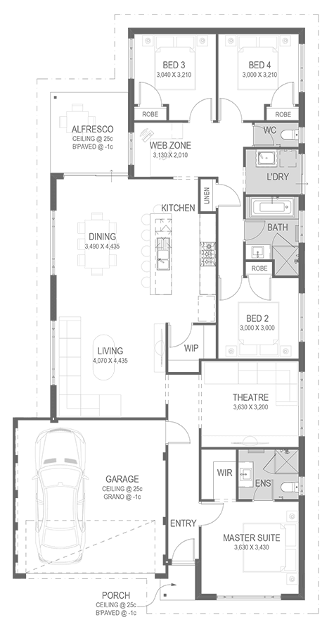 The Mabella Floorplan by GO Homes