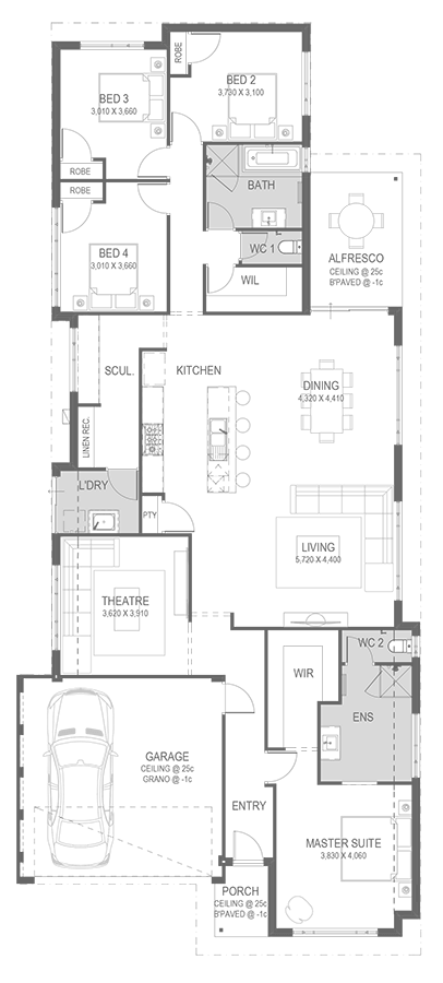 The Reveley Floorplan by GO Homes