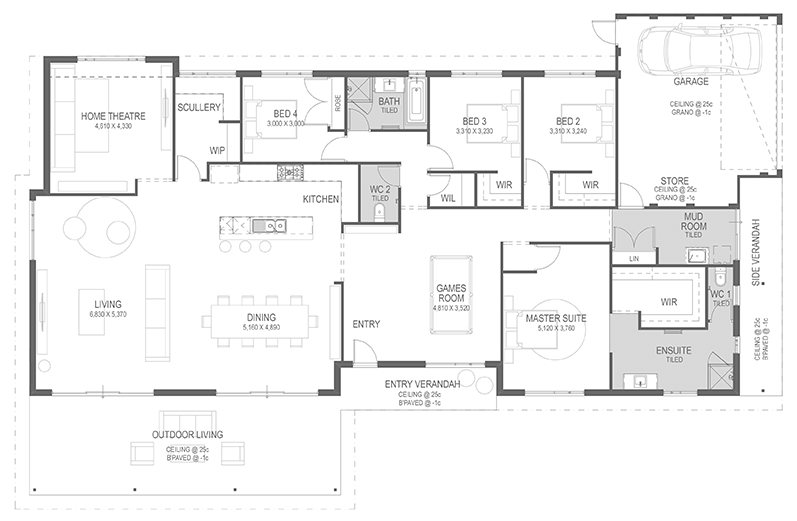 The Bottlebrush Floorplan by GO Homes