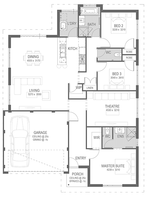 The Cadell Floorplan by GO Homes