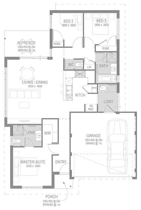 The Clio Floorplan by GO Homes