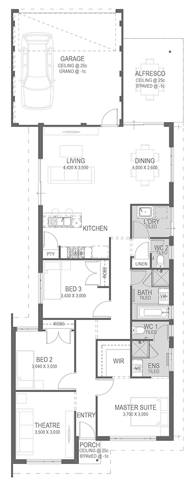 The Glenella Floorplan by GO Homes
