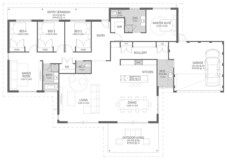 The Pomegranate Floorplan by GO Homes