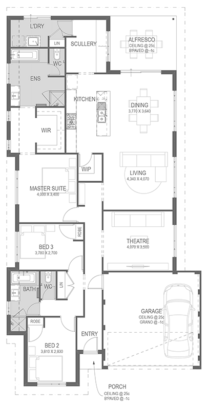 The Tempo Floorplan by GO Homes